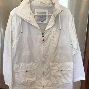 Crisp white spring jacket